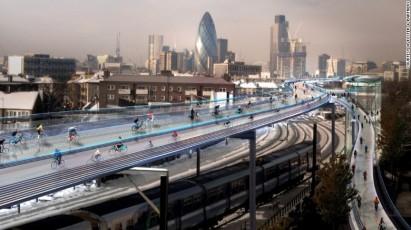 London cycle highway CNN